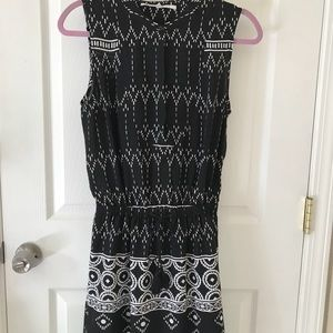 Black and white Aztec pattern dress